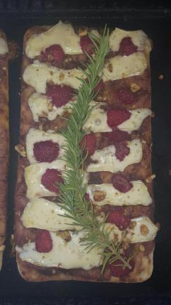 Raspberry Brie Flatbread