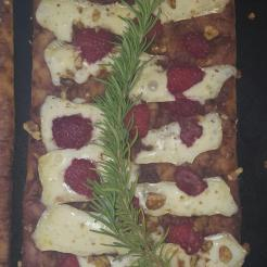 Raspberry Brie Flatbread