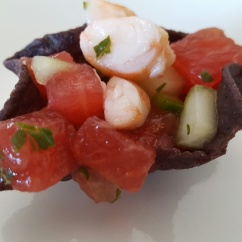 Watermelon Shrimp Ceviche